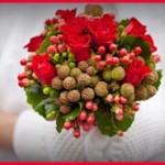 Свадебный букет зимой — какие цветы?