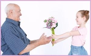 Какие цветы подарить дедушке